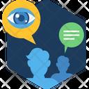 View Eye Background Icon