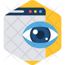 View Eye Background Icon