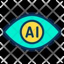 Artificial Intelegence Eye Scan Icon