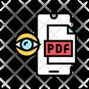 Reading Pdf File Icon