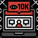 Viewer 10 K Viewer Views Icon