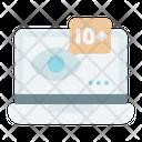Viewers Eye Laptop Social Icon