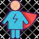 Vigilante Superhero Powerful Man Icon