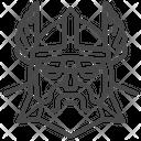 Viking God Icon