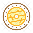 Viking Shield Color Icon