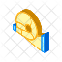 Viking Trumpet Isometric Icon