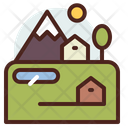 Village Rural Nature Icon