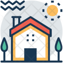 Farmhouse House Courtyard Icon