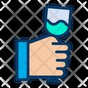 Vine Glass Glass Hand Icon