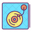 Vintage Disc Player Icon