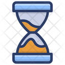 Vintage Hourglass Sandglass Timer Icon