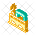 Iron Retro Isometric Icon