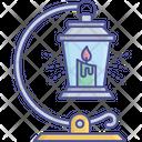 Vintage Lantern Flashing Light Lantern Icon