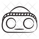 Boombox Cassette Player Tape Recorder Icon