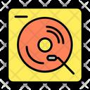 Vinyl Record Player Gramophone Icon