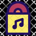 Vinyl Music Note Icon