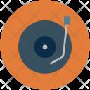 Vinyl Record Playing Icon