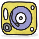 Music Disc Turntable Music Player Icon