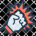 Violence Ruckus Ragging Icon