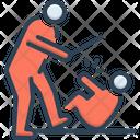 Violent Brutal Beating Icon