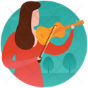 Violin Player Violinist Female Playing Violin Icon