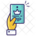 Vip Press Card Journalist Card Icon
