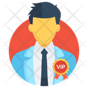 Vip Celebrity Chief Person Icon