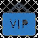 Vip Board Sign Icon