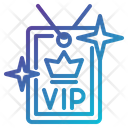 Access Privileges Vip Card Icon