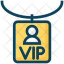 American Football Sports Vip Card Icon
