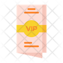 Vip Invitaion Vip Pass Invitation Card Icon