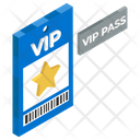 Vip Token Vip Pass Entry Ticket Icon