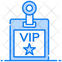 Vip Pass Id Card Biodata Icon