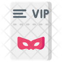 Ticket Vip Party Icon