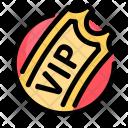 Ticket Vip Birthday Icon