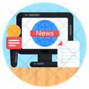 Online Broadcasting Online News Media News Icon