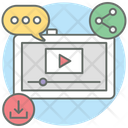 Viral Video Video Share Video Streaming Icon