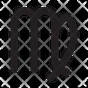 Virgo Astrology Symbol Icon
