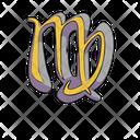 Virgo Zodiac Sign Icon
