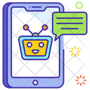 Virtual Agent Chatbot Talkbot Icon