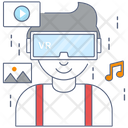 Virtual Assistant Virtual Technology Virtually Reality Icon