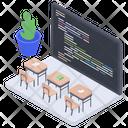 Virtual Classroom Online Education Virtual Education Icon