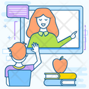 Virtual Lecture Training Virtual Classroom Icon