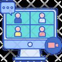 Virtual Conference Icon