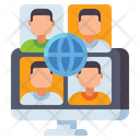 Virtual Conference Online Meeting Digital Meeting Icon