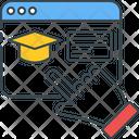 Virtual Education Graduate Graduation Icon