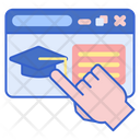 Virtual Education Online Education Online Study Icon