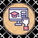 Virtual Education Virtual Realty Technology Icon