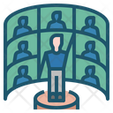 Virtual Events Hybrid Events Virtual Icon