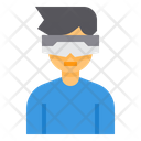 Virtual Glasses Vr Gadget Icon